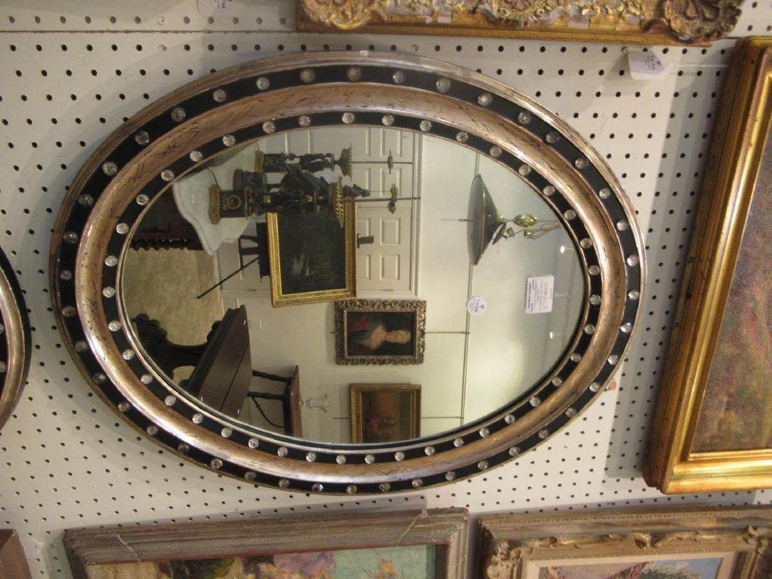 Pair of Italian Silvered and Ebonized Mirrors - 3