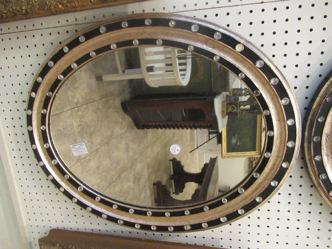 Pair of Italian Silvered and Ebonized Mirrors - 4