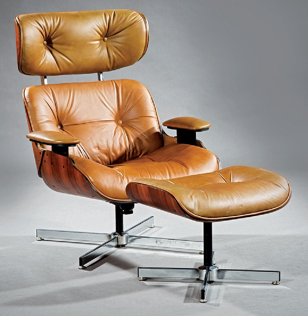 Eames-Style Lounge Chair and Ottoman