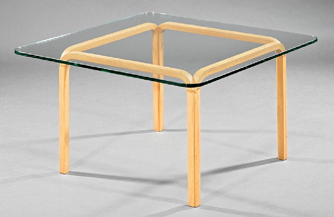 Alvar Aalto Birch and Glass Occasional Table