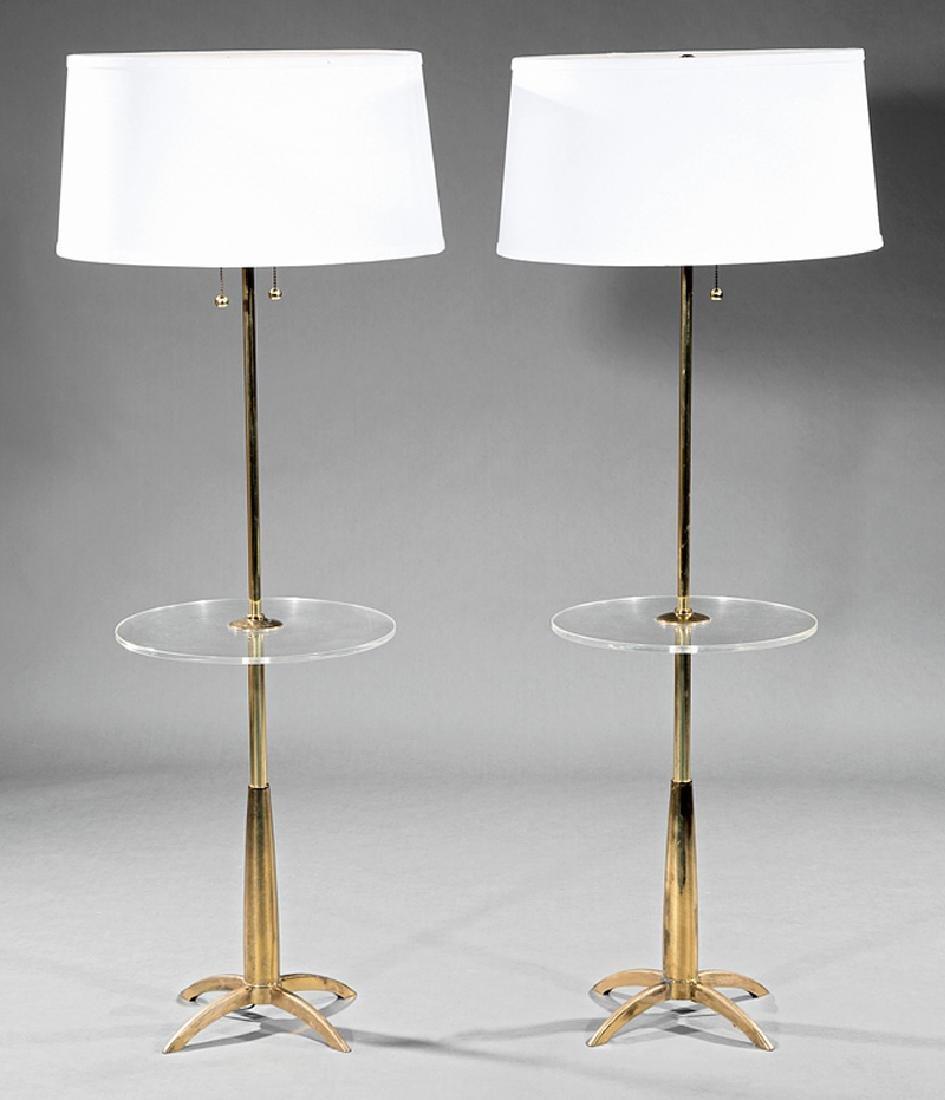 "Pair of Stiffel ""Rocket"" Floor Lamps"