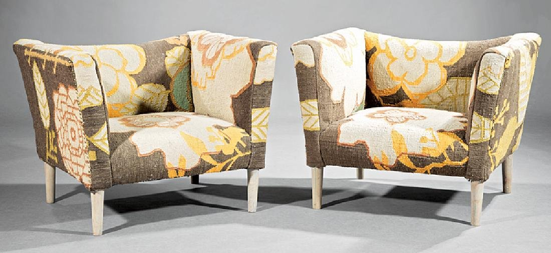 Pair of Contemporary Club Chairs
