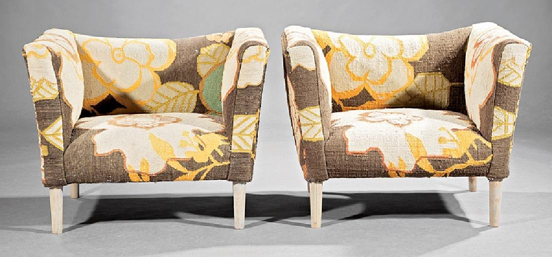 Pair of Contemporary Club Chairs - 2