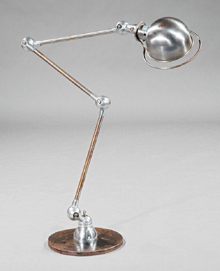 """French Industrial """"Zig-Zag"""" Lamp, marked Jielde"""