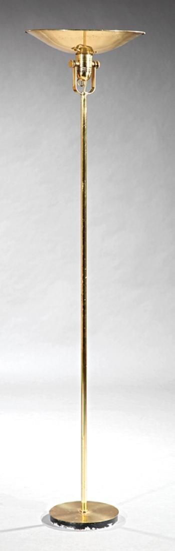 Mid-Century Modern Brass Floor Lamp
