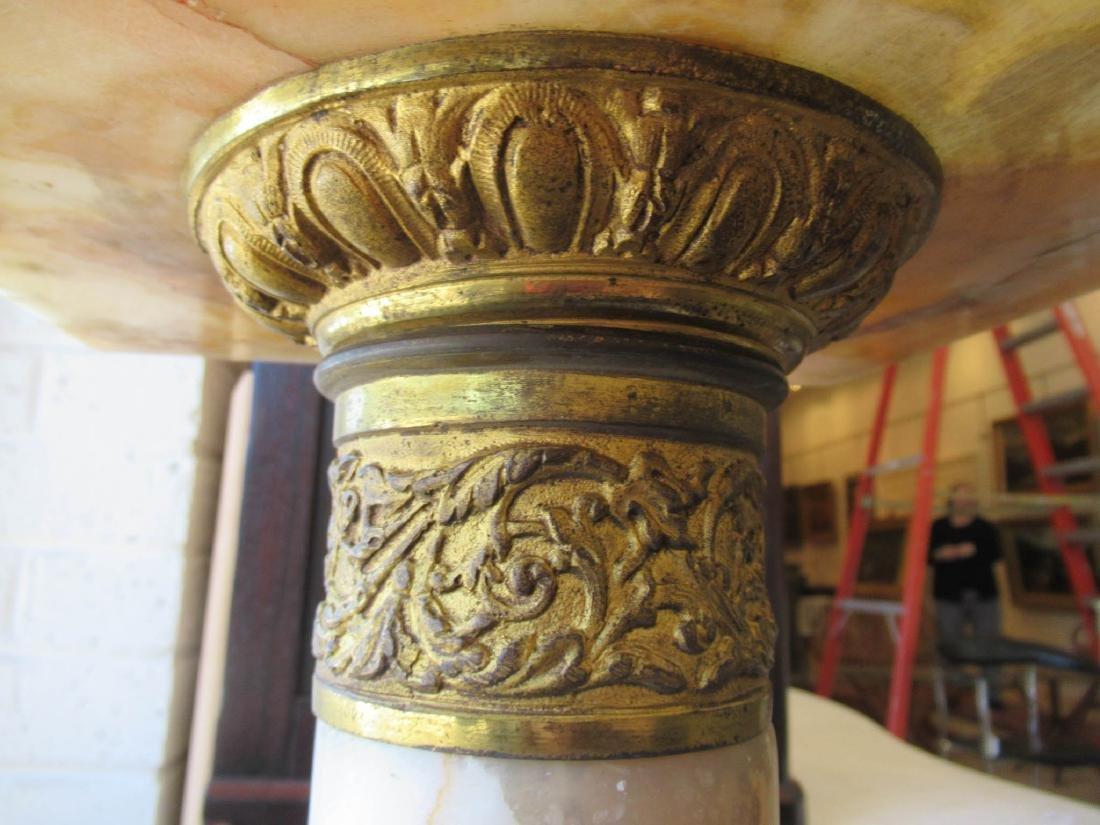 Napoleon III Bronze-Mounted Onyx Pedestals - 5