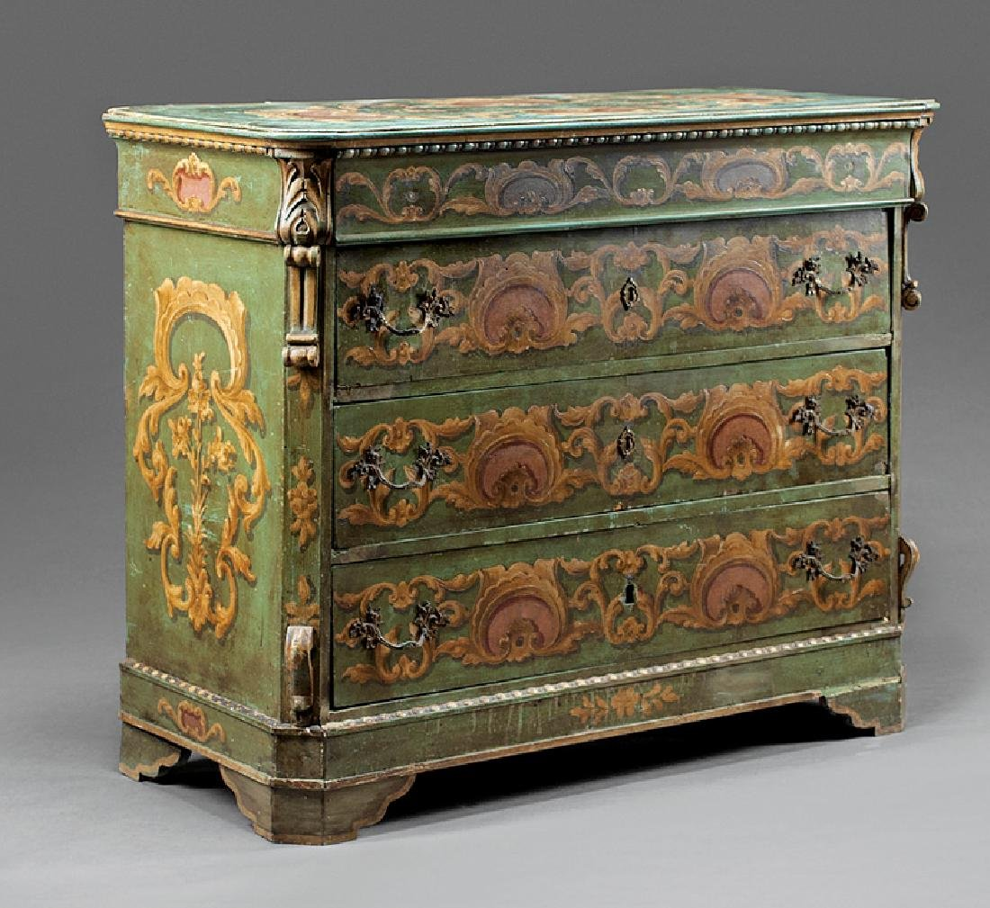 Continental Polychrome Painted Chest