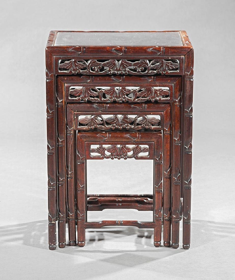 Four Chinese Hardwood Nesting Tables - 2