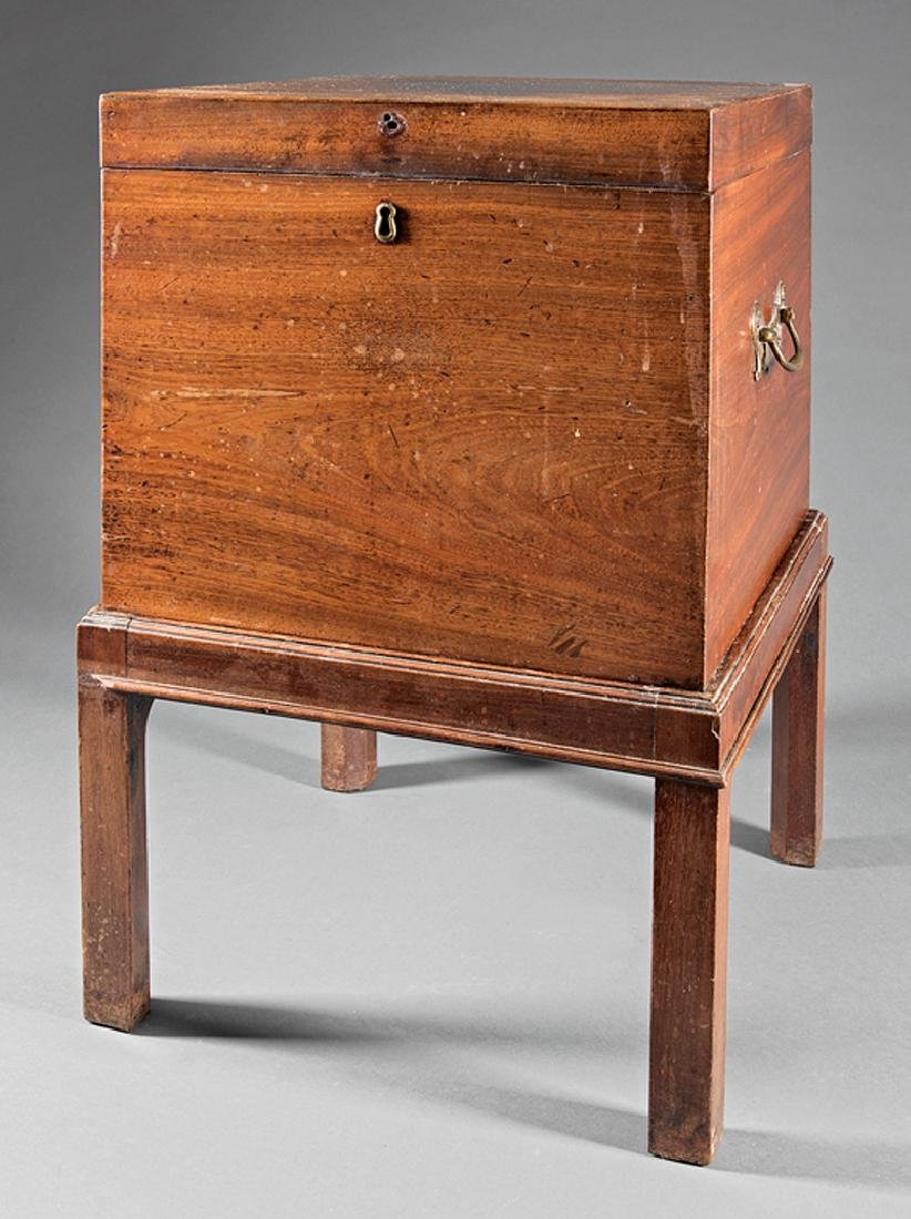 Antique English Oak Cellarette on Stand