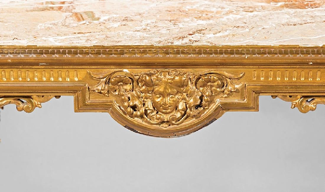 Continental Carved Giltwood Console Table - 3
