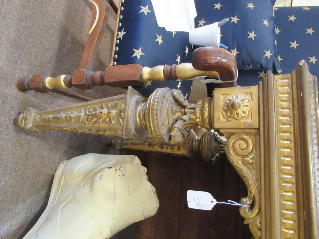 Continental Carved Giltwood Console Table - 5
