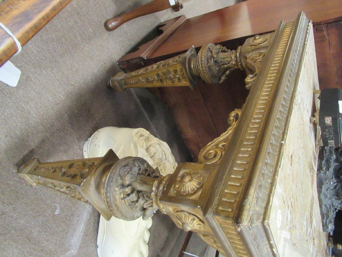 Continental Carved Giltwood Console Table - 7