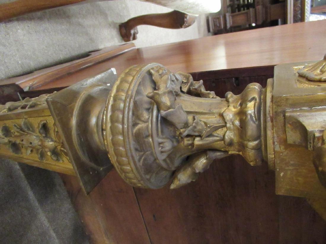 Continental Carved Giltwood Console Table - 8