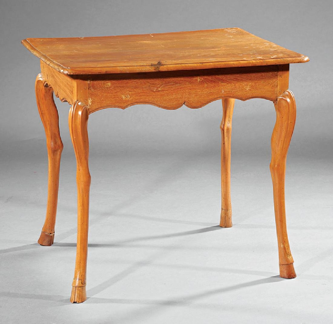 Provincial Carved Fruitwood Occasional Table