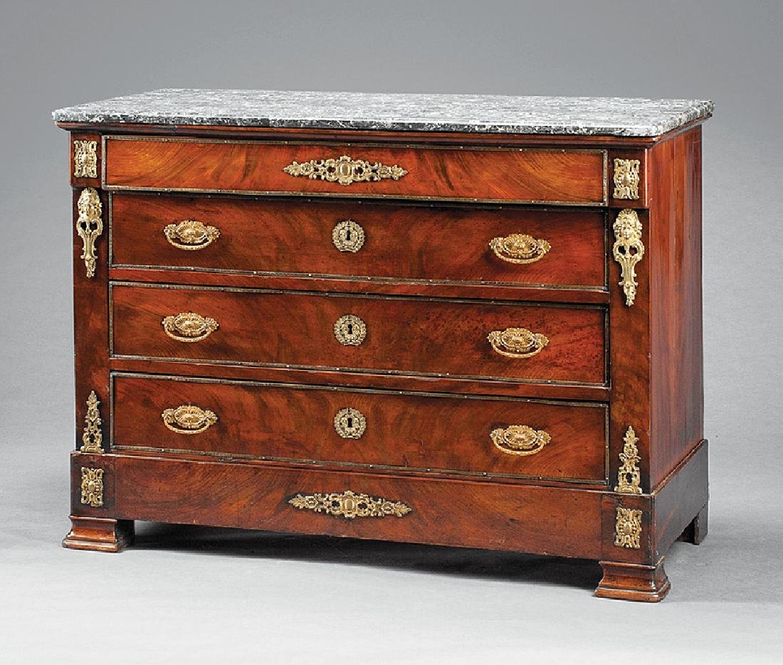 Louis Philippe Bronze-Mounted Mahogany Commode