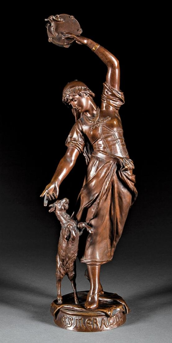 "Continental Bronze Figure of ""Esmeralda"""
