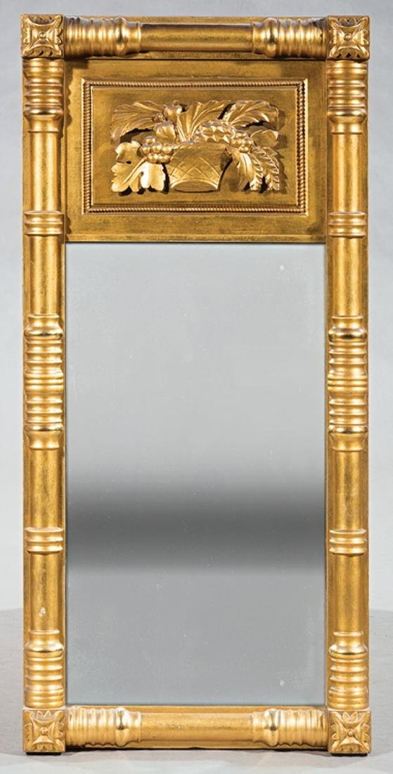 American Classical Carved Giltwood Mirror