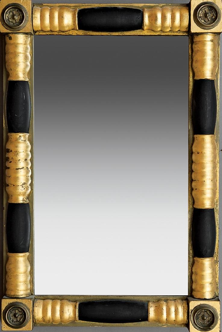 Brass-Mounted, Painted and Parcel Gilt Mirror