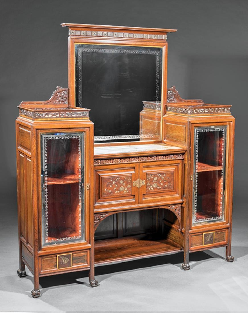 Rosewood Parlor Cabinet, attr. Pottier & Stymus