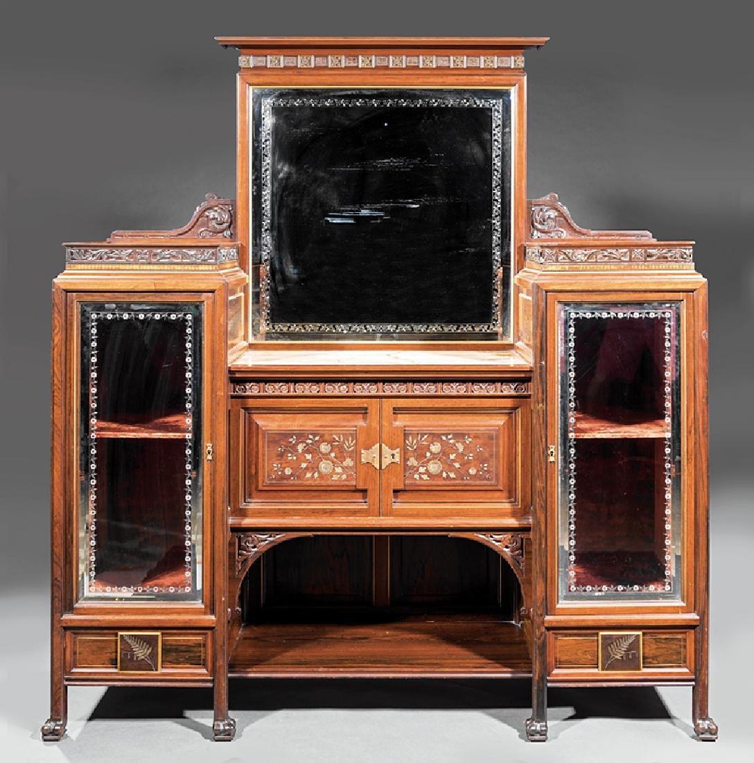 Rosewood Parlor Cabinet, attr. Pottier & Stymus - 2