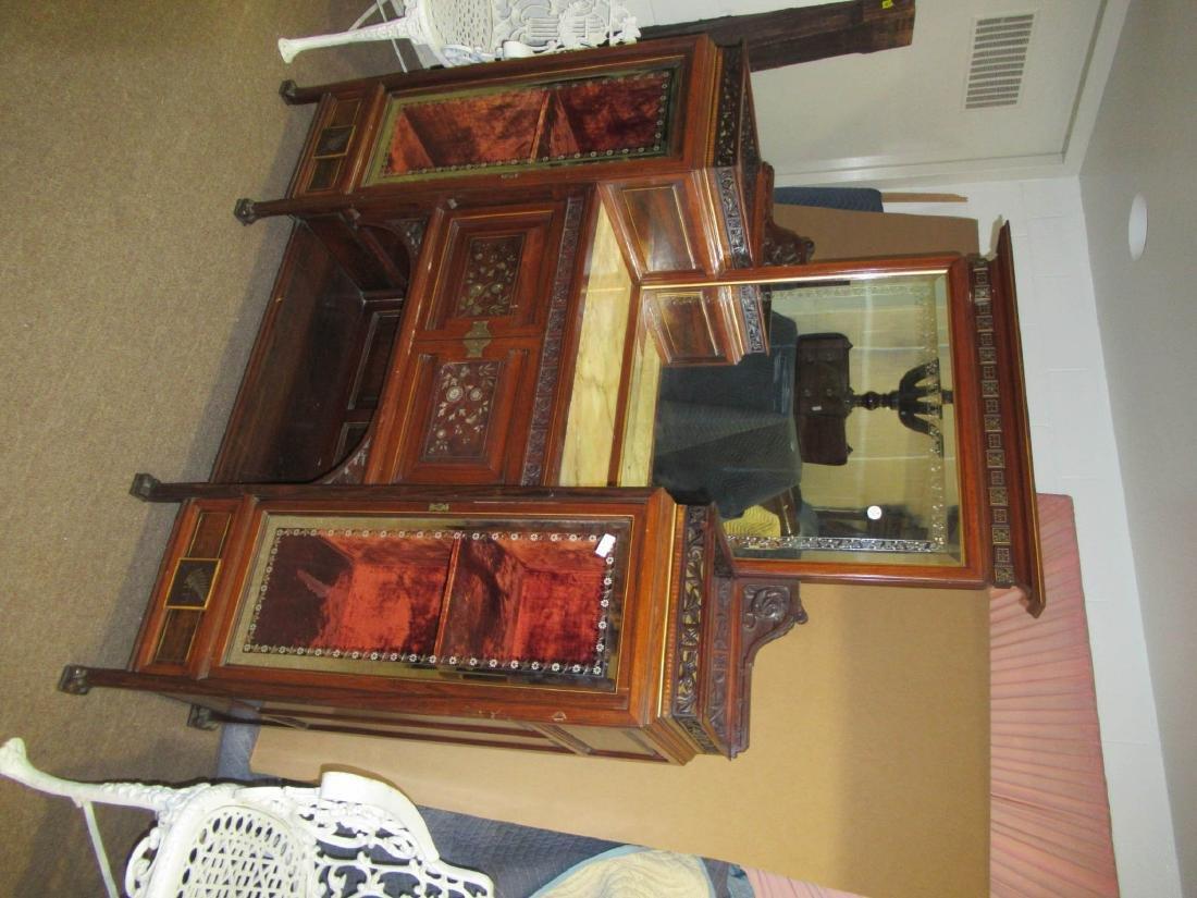 Rosewood Parlor Cabinet, attr. Pottier & Stymus - 3