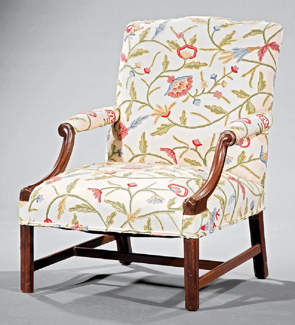 George III-Style Mahogany Library Armchair