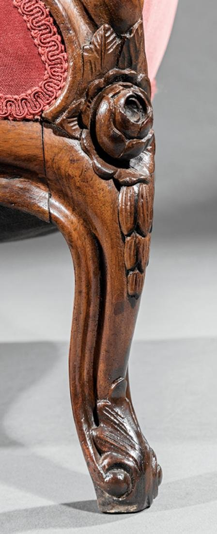 Carved and Laminated Rosewood Sofa, attr. Belter - 4
