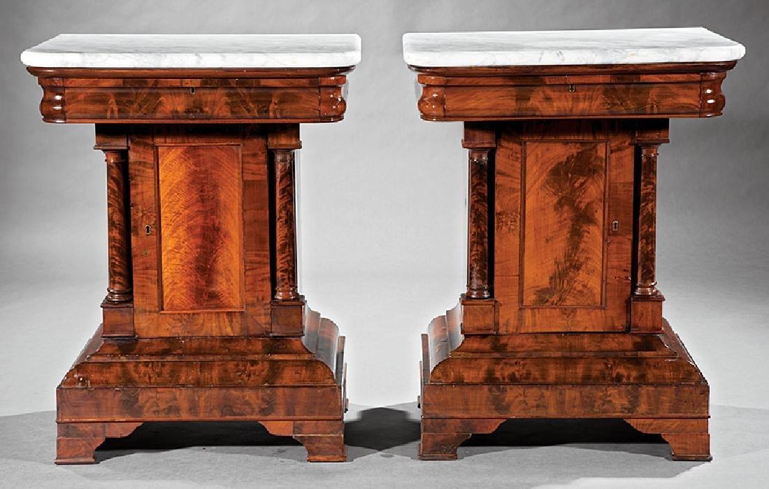 American Classical Figured Mahogany Mixing Tables