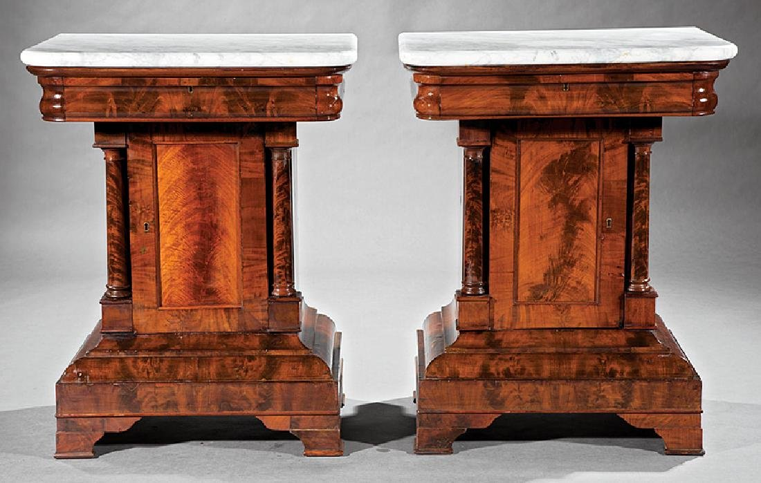 American Classical Figured Mahogany Mixing Tables