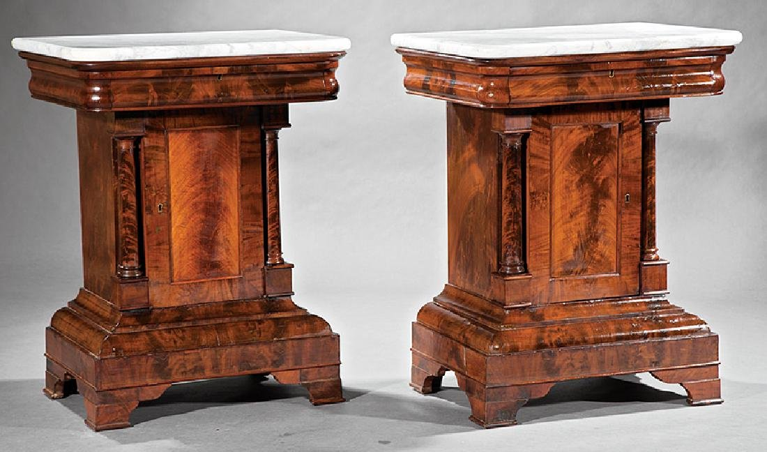 American Classical Figured Mahogany Mixing Tables - 2