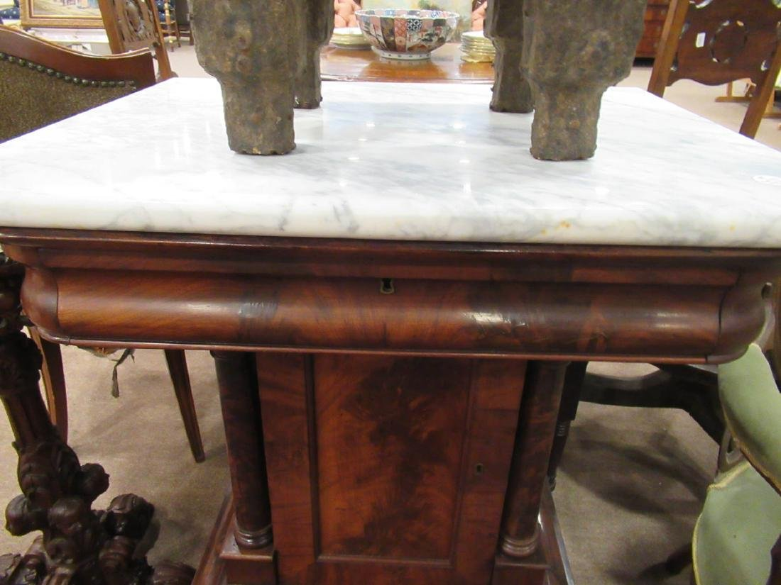 American Classical Figured Mahogany Mixing Tables - 5