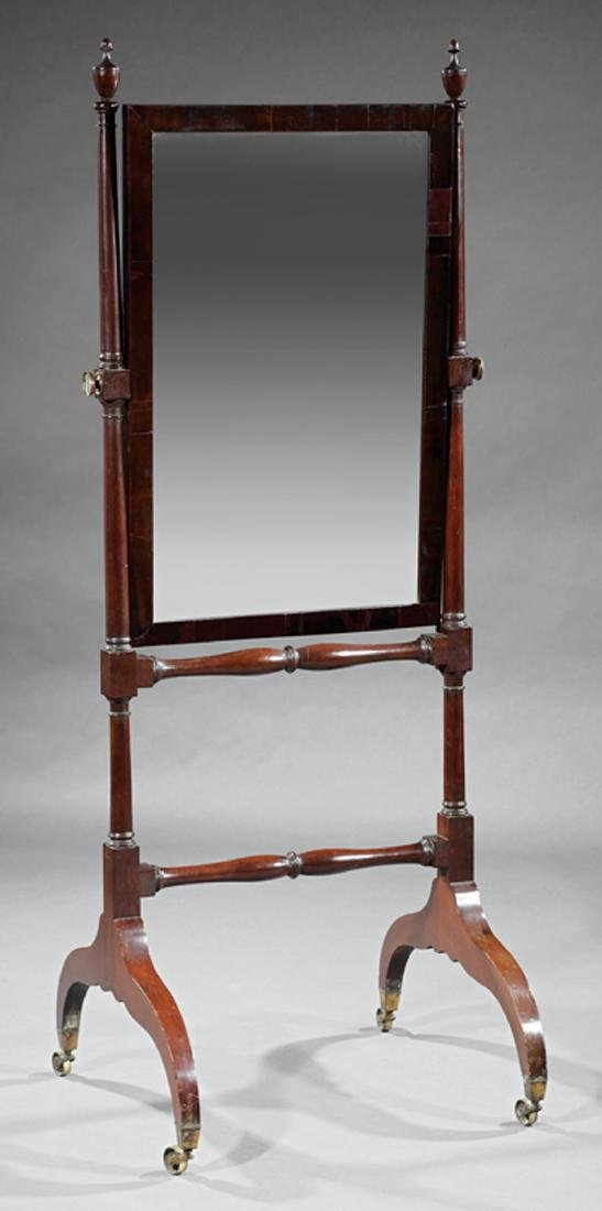 American Federal Mahogany Cheval Mirror