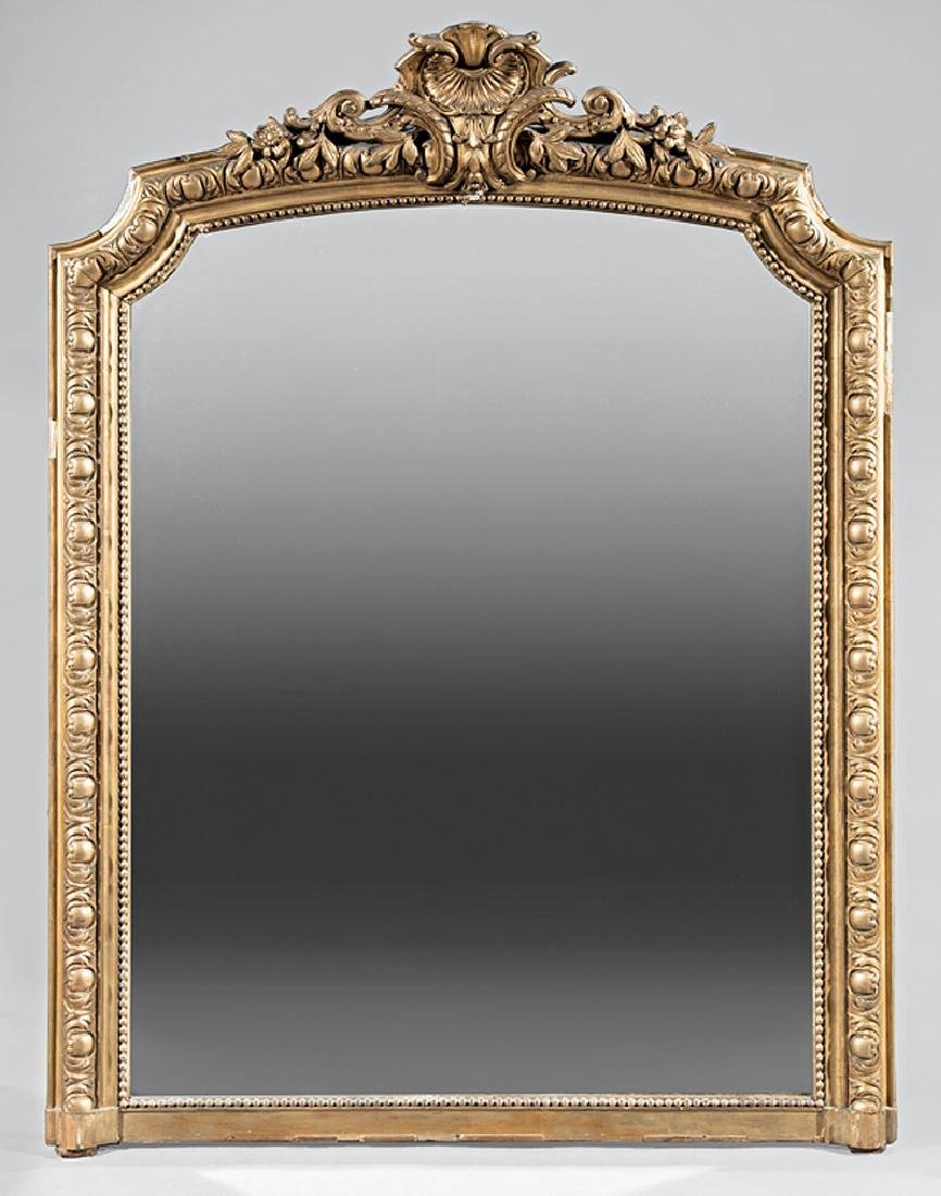 French Giltwood Mantel Mirror