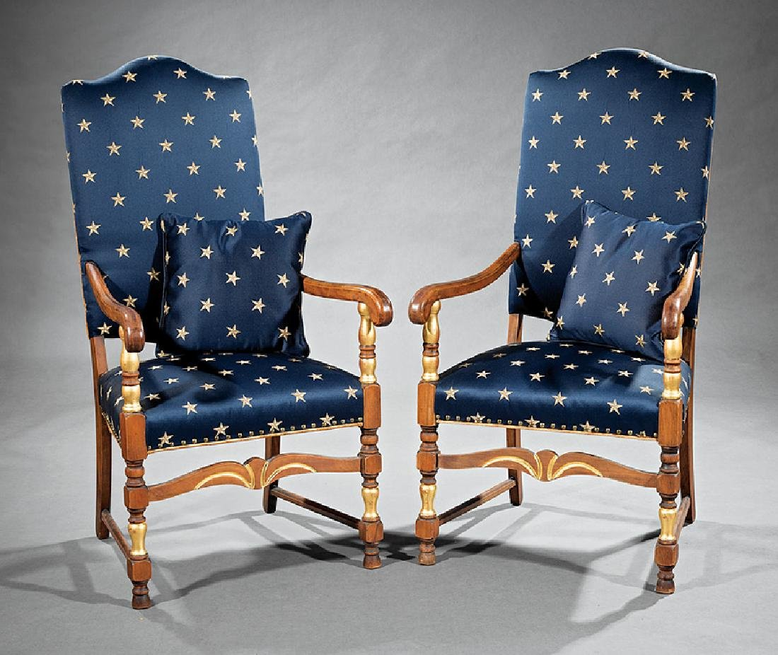American Colonial-Style Mahogany Armchairs