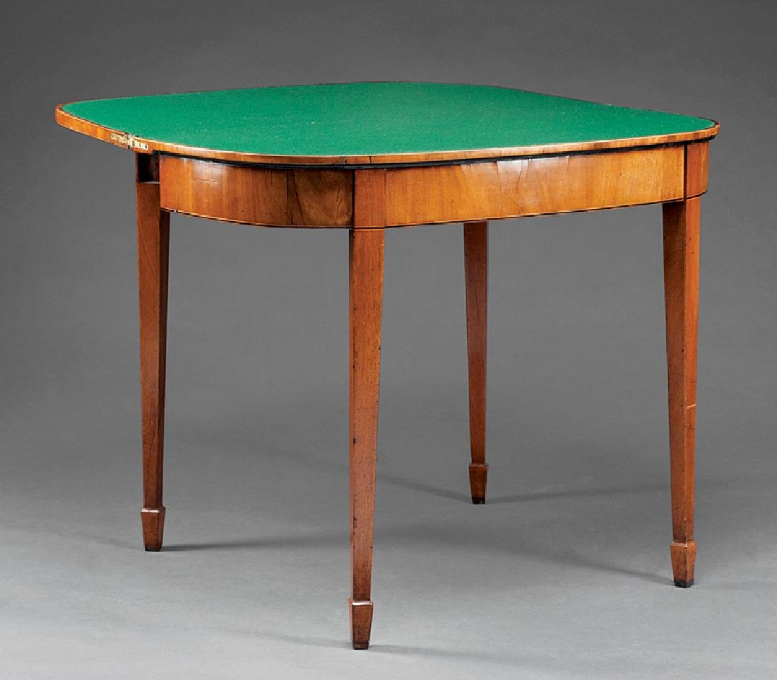 American Federal Mahogany Demilune Games Table - 2