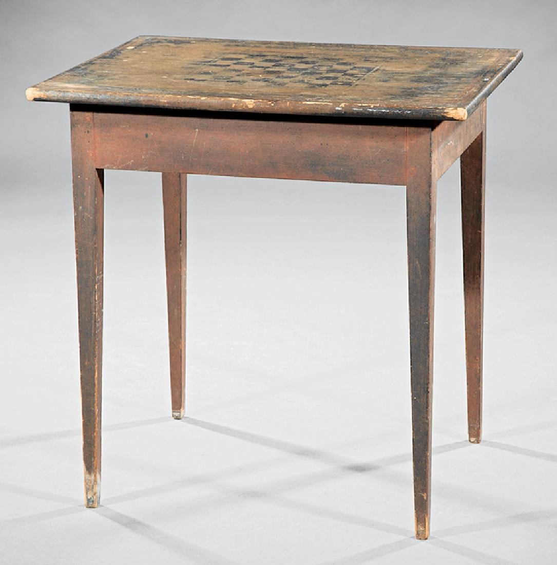Southern Late Federal Pine and Poplar Games Table