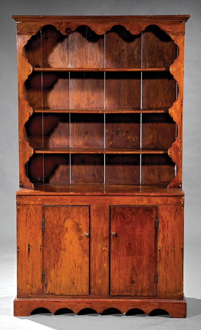 American Carved Pine Cupboard - 2