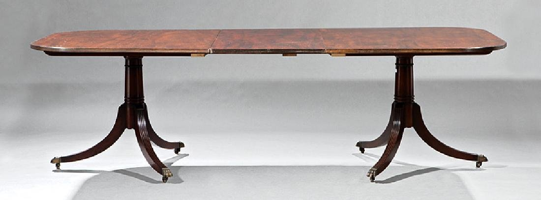 Carved Mahogany Two Pedestal Dining Table - 2