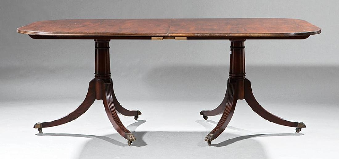 Carved Mahogany Two Pedestal Dining Table - 3