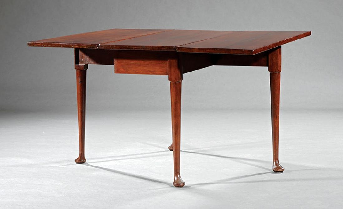 Queen Anne Mahogany Drop-Leaf Table - 2