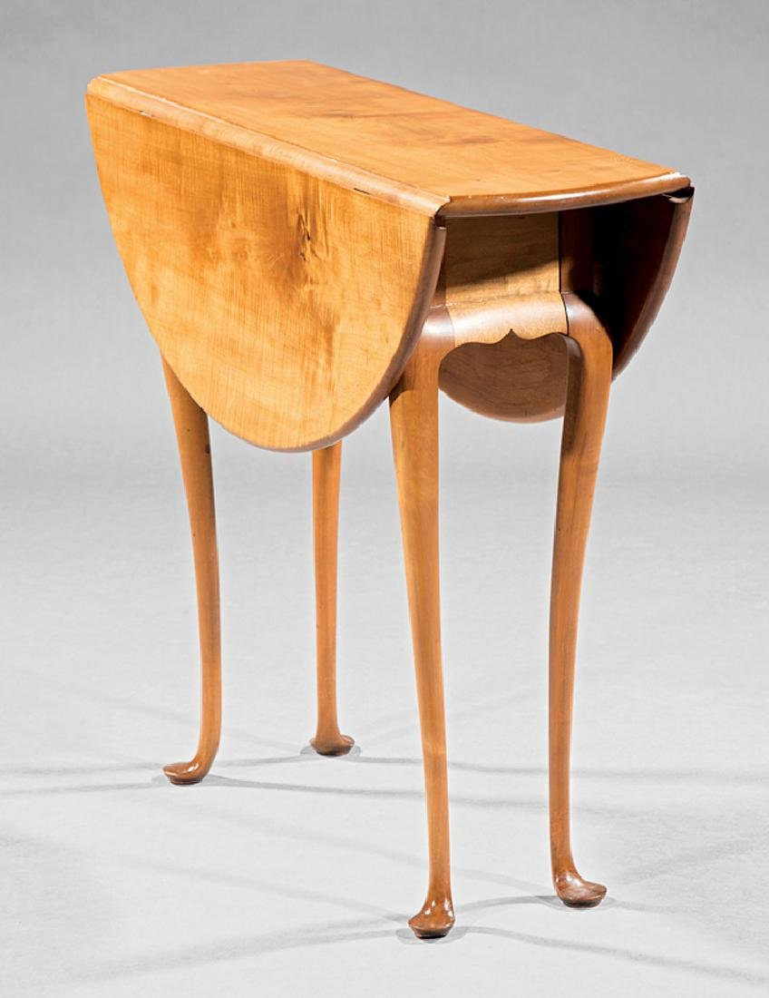 Queen Anne-Style Maple Drop-Leaf Tea Table - 2