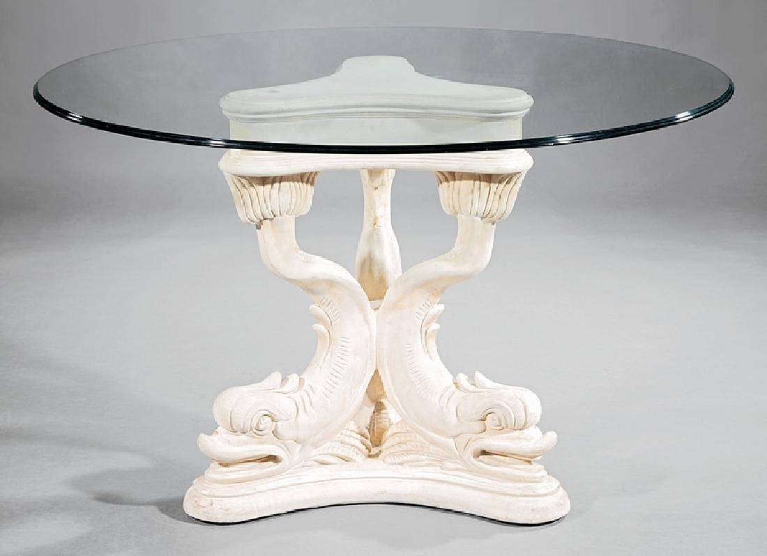 Continental Molded Plaster Center Table