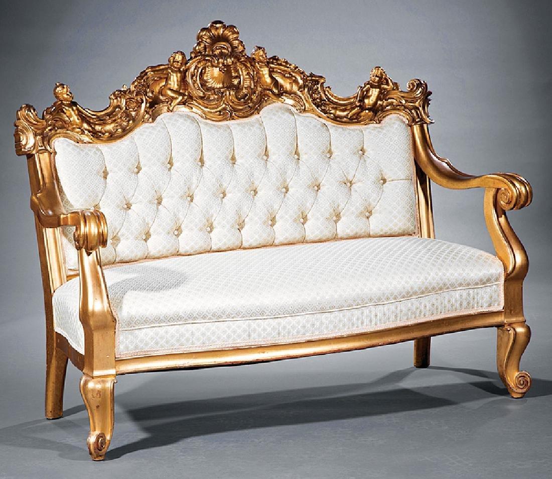 Beaux Arts Giltwood Parlor Suite attr. S. Karpen