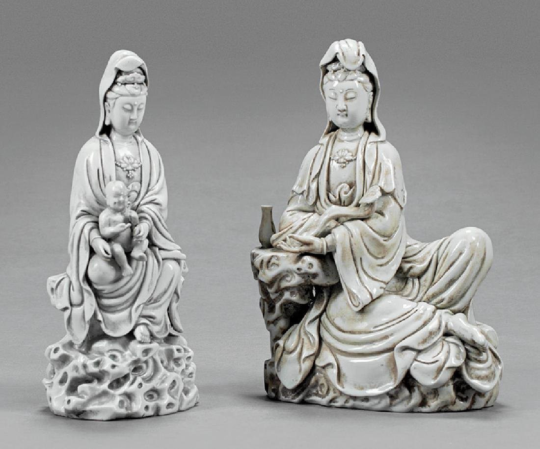Chinese Porcelain Guanyin Figures
