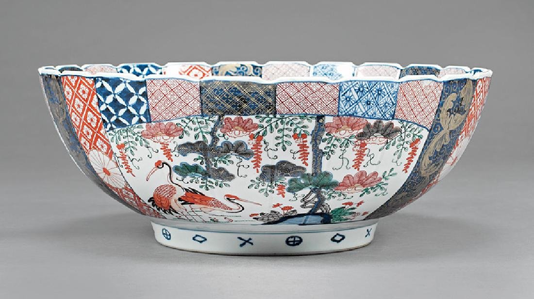 Large Japanese Imari Porcelain Bowl