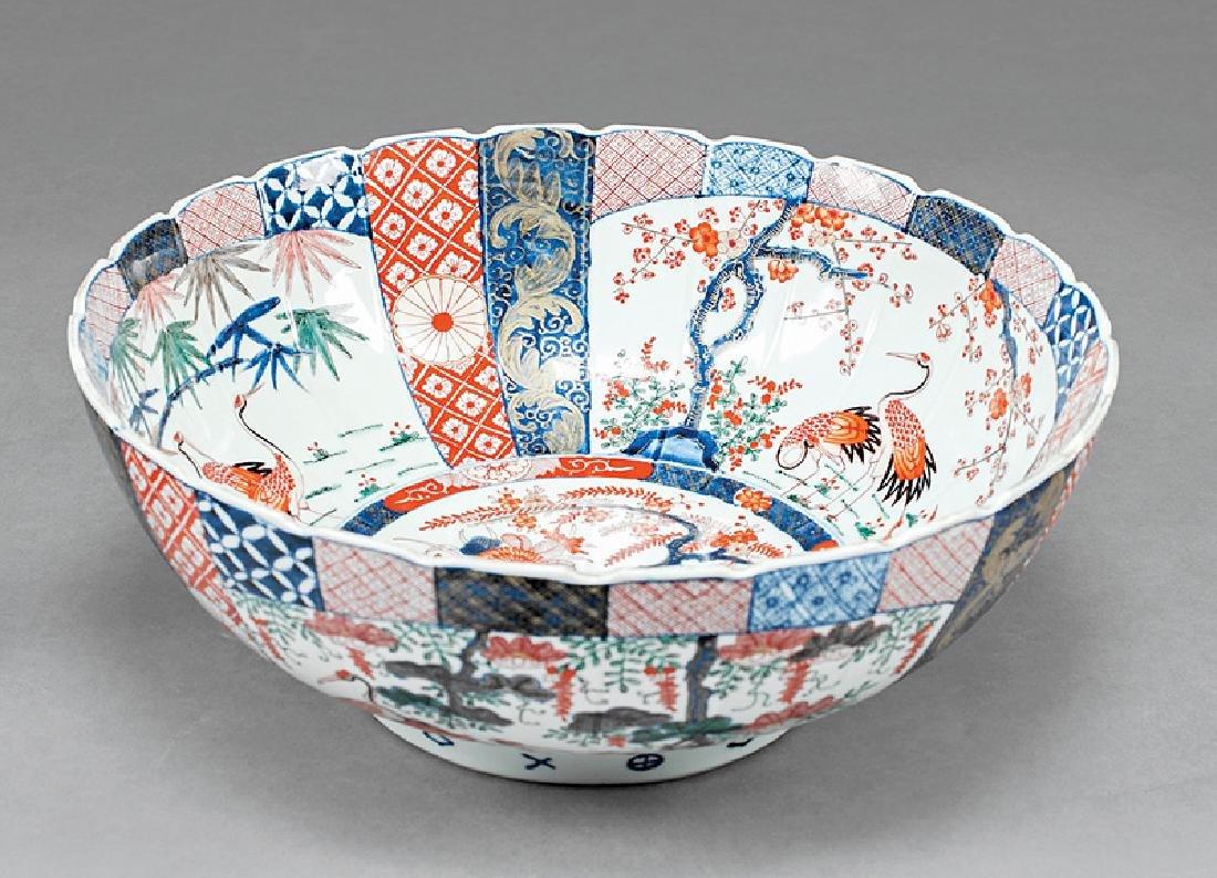 Large Japanese Imari Porcelain Bowl - 2
