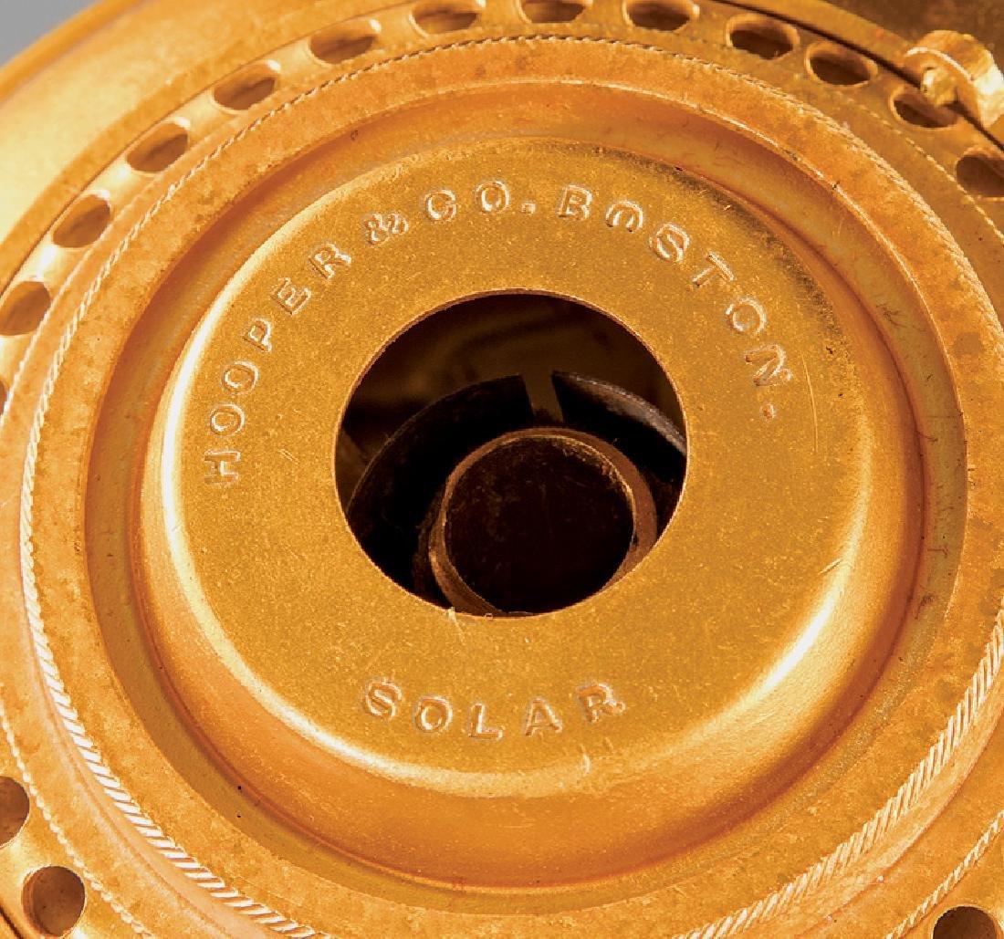 American Gilt Bronze Solar Lamp, marked Hooper - 2