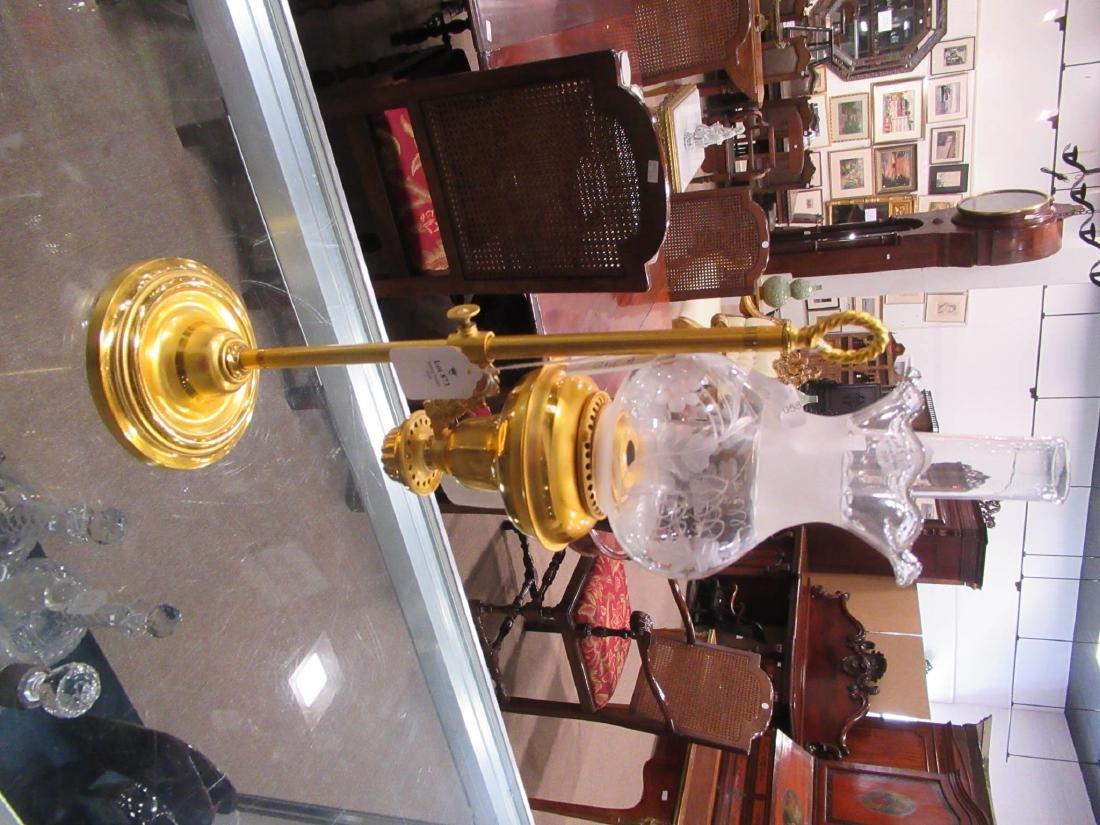 American Gilt Bronze Solar Lamp, marked Hooper - 3