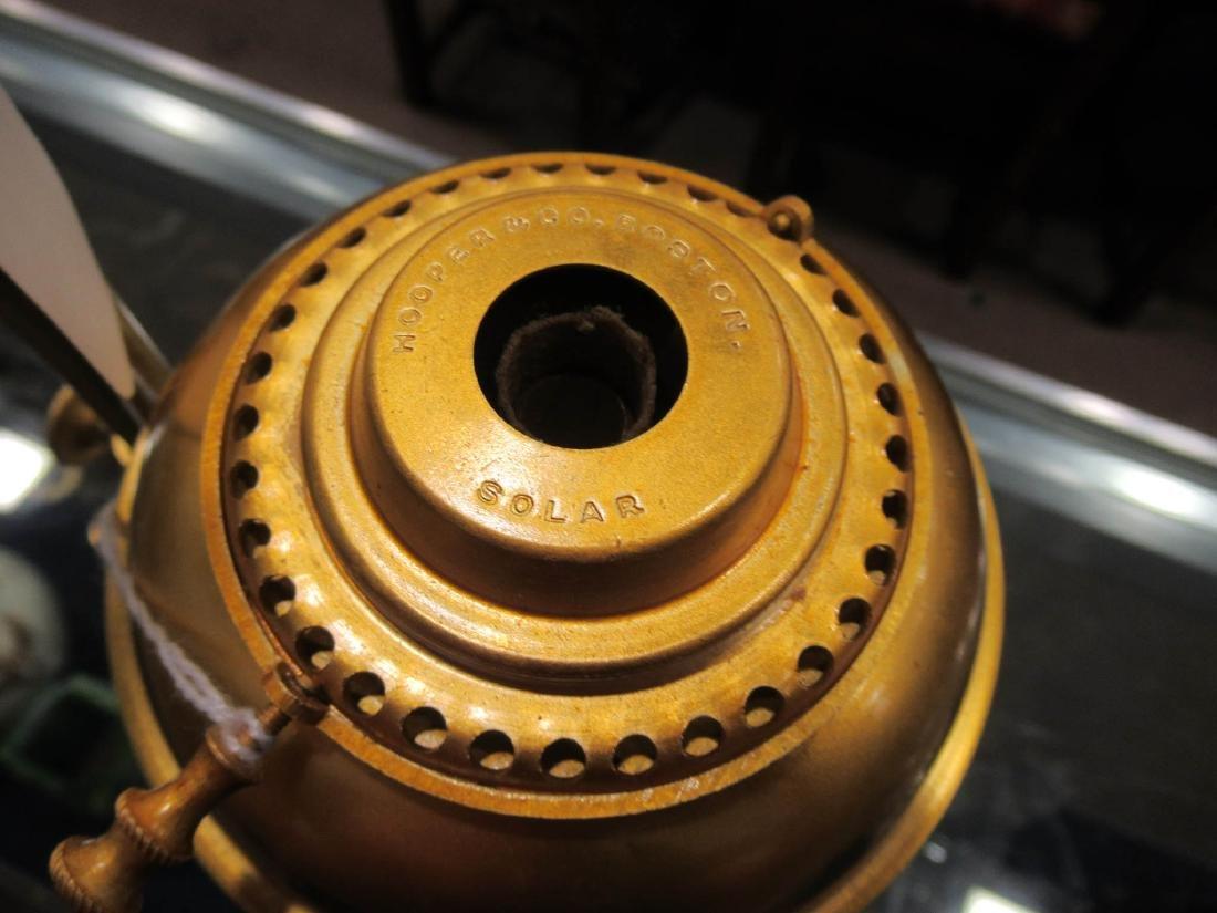 American Gilt Bronze Solar Lamp, marked Hooper - 5