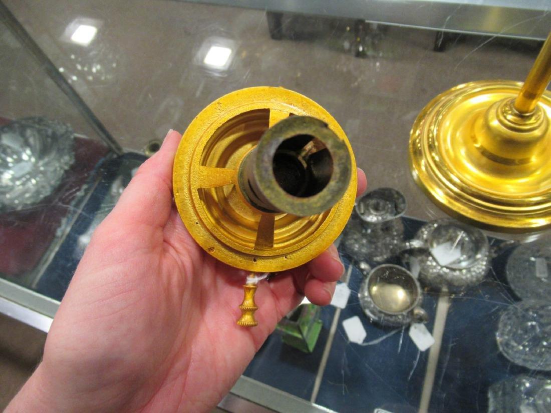 American Gilt Bronze Solar Lamp, marked Hooper - 7